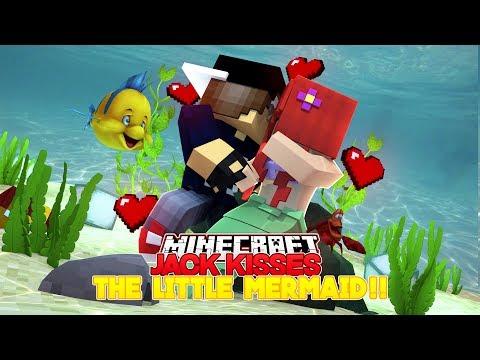 Minecraft Adventure - JACK KISSES THE LITTLE MERMAID!!!