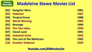 Madeleine Stowe Movies List