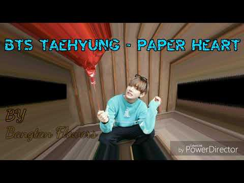 taehyung - paper heart (cover acoustic)  lyrics