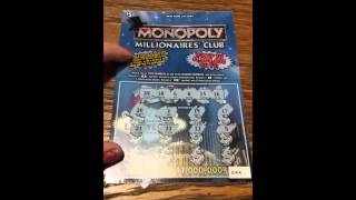 Monopoly Millionaires Club NY Lottery ticket #2