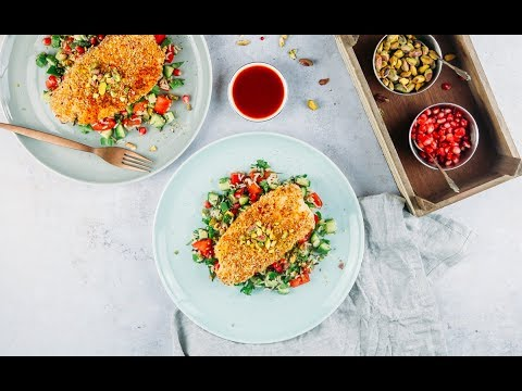 Almond Crusted Fish With Wild Rice Salad