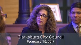 Clarksburg City Council - February 15, 2018