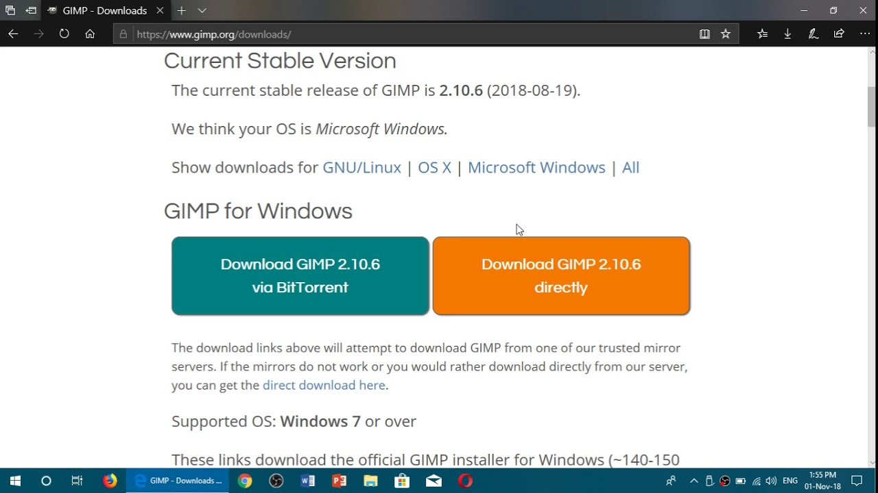 Download the gimp 32-bit 2. 10. 0 filehippo. Com.