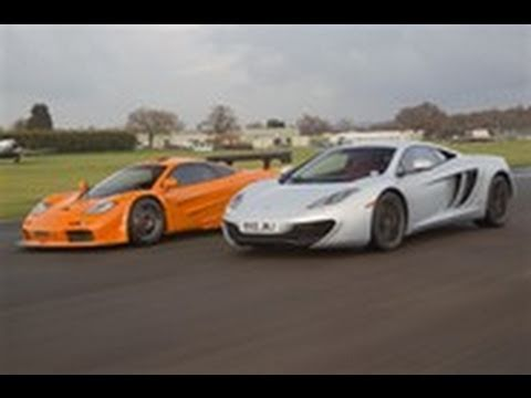 mclaren f1 takes on the mp4 12c on track youtube. Black Bedroom Furniture Sets. Home Design Ideas