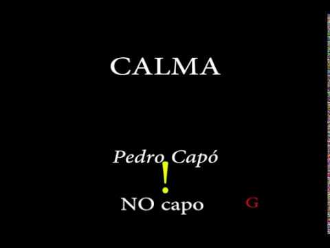 CALMA - Pedro Capó (Easy Chords and Lyrics)