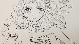 Draw vampire girl