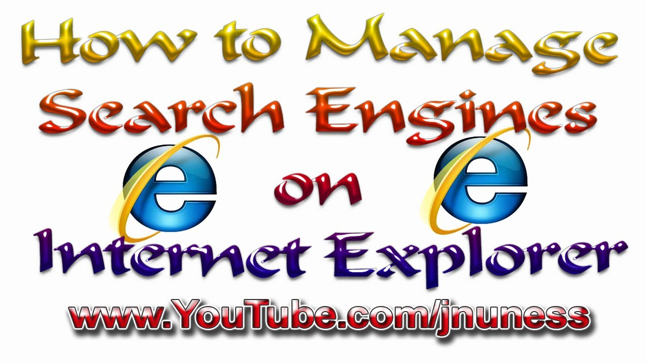 how to change search engine on internet explorer