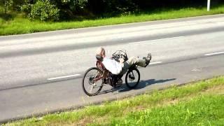 Recumbent rider