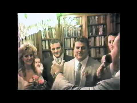Footage of Davey Boy Smith and Diana Hart's wedding day
