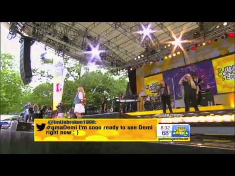 Demi Lovato   Heart Attack   Live on Good Morning America GMA 2013)