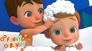 Bath Song   Nursery Rhymes   Funny Bunny