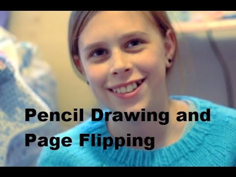 ASMR Homework: Pencil Drawing and Page Flipping