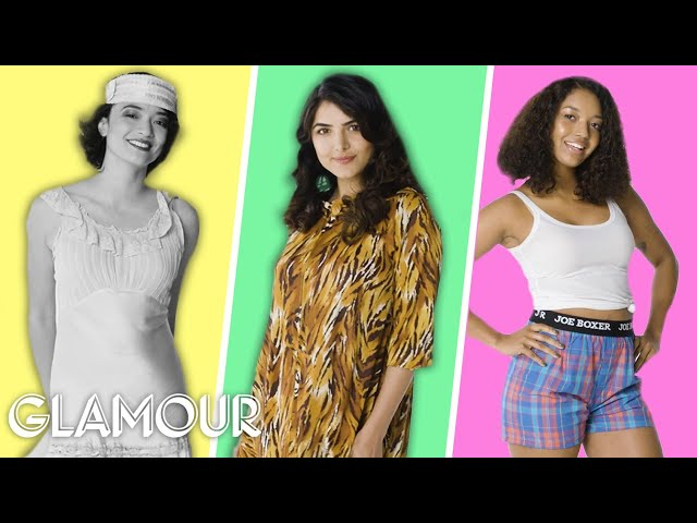fb3762483 Glamour reveals 100 years of pajama trends with video