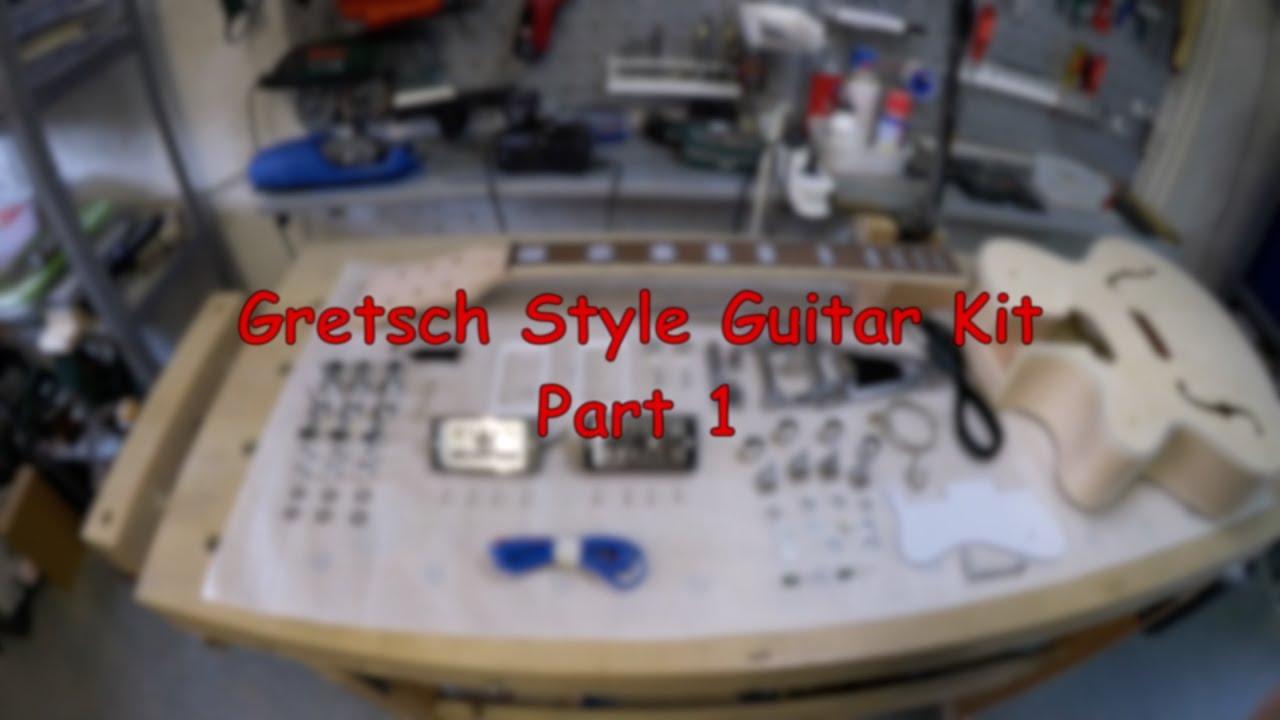 gretsch style guitar kit part 1 youtube. Black Bedroom Furniture Sets. Home Design Ideas