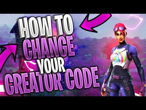 How To CHANGE Your Support A Creator Code 🔧