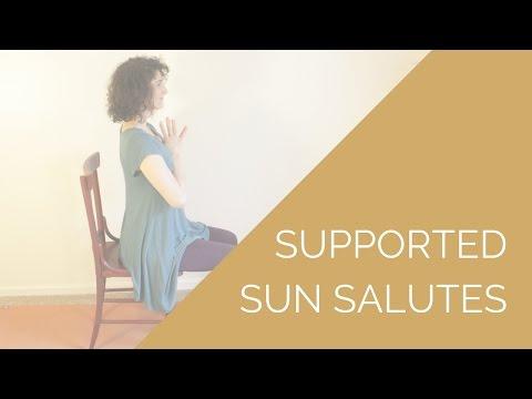 Chair Yoga Sun Salutations // Yoga for Chronic Pain + Fatigue