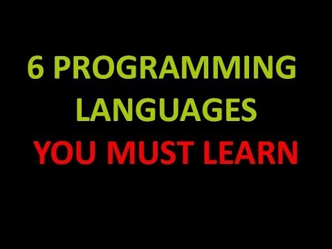 best programming languages you must learn  6 best programming languages you must learn