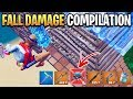 'When Pros Die to FALL DAMAGE' Fortnite Compilation! #3