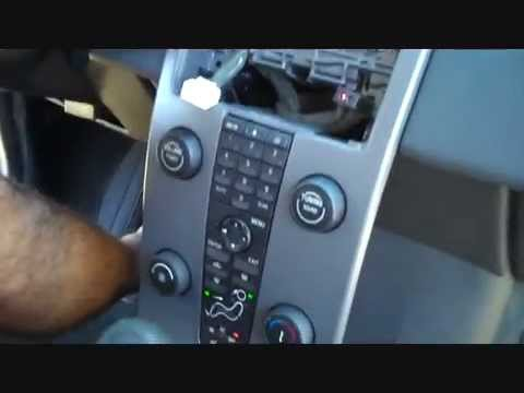 How to Volvo S40 Car Stereo Removal 2004 - 2009 repalce repair - YouTube
