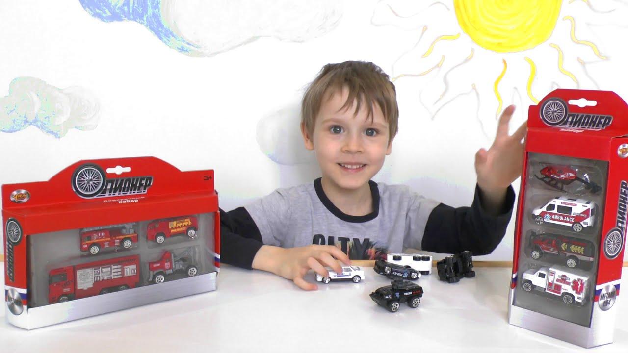 Видео про машинки скорой помощи, полицейские и пожарные машины для детей
