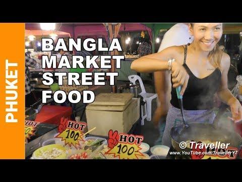 NIGHT MARKET AT PATONG BEACH - Thai Street Food - Phuket travel videos