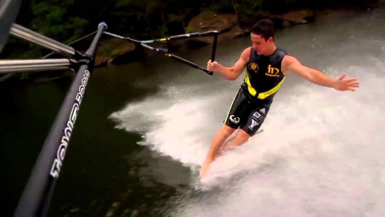 World Champions Barefoot skiing behind