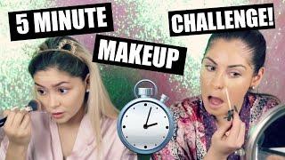 5 MINUTE MAKEUP CHALLENGE FT. DAISY MARQUEZ♡