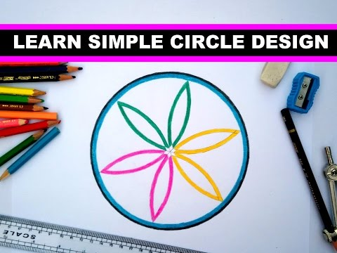 learn simple design in circle