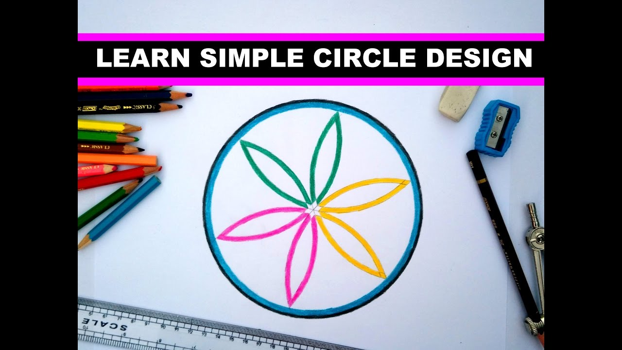 Simple Design In Circle Youtube