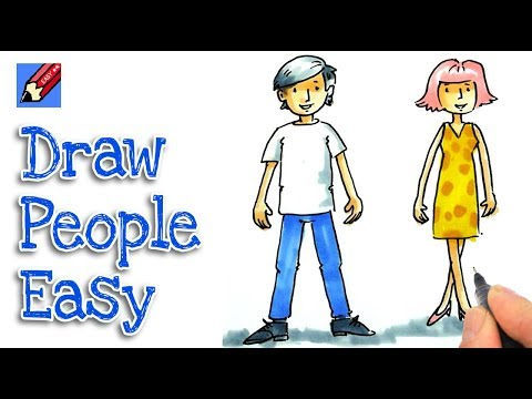 How to draw cartoon people