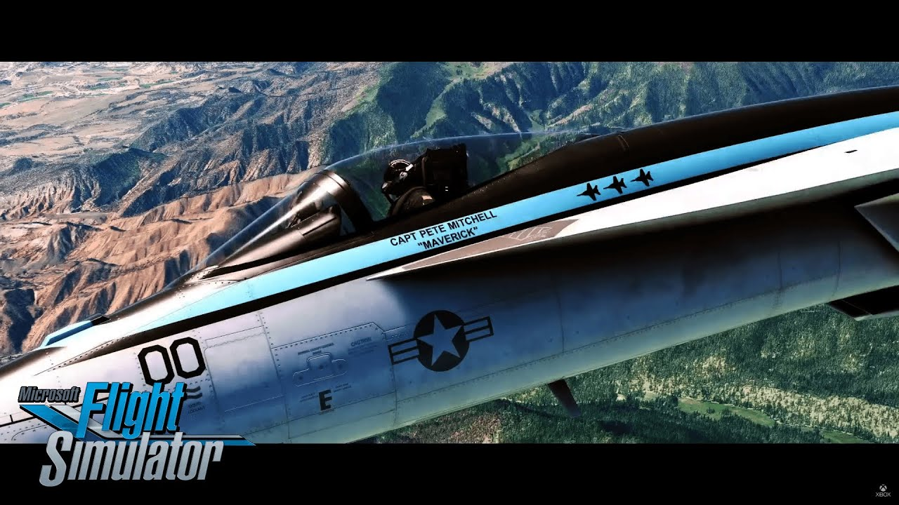 Microsoft Flight Simulator rechaza el contenido de Top Gun: Maverick después del retraso de la película