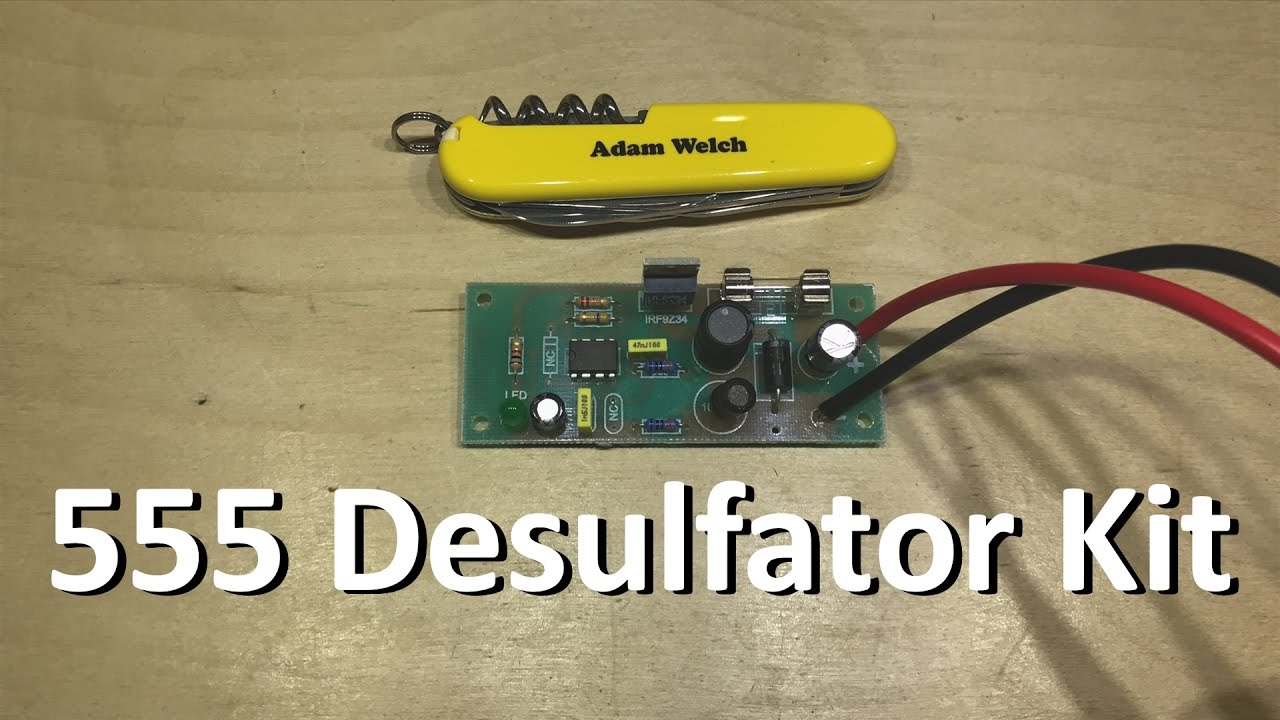 555 Desulfator Kit Build 12v Solar Shed Youtube Re 12 V Sla Battery Cutoff Circuit Required
