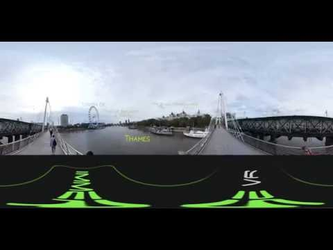 360 Tour Virtual en Londres, Ojo de Londres y Big Ben desde Golden Jubilee Bridge