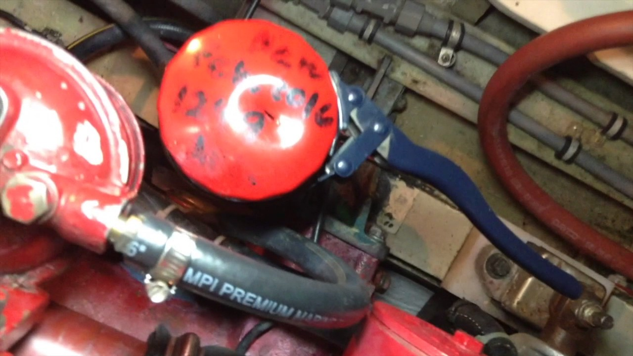 Boat Oil Change For Ford Lehman  Marinized  Diesel