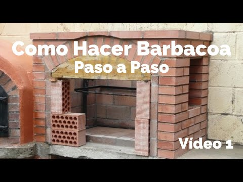 Construcci n de barbacoa 1 youtube for Asadores contemporaneos jardin