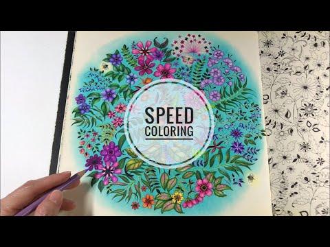 Speed Coloring SECRET GARDEN | Flowers Coloring
