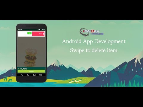 Android Development Tutorial - Order Food App Part 51 Swipe to delete Cart item