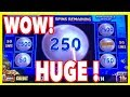 HUGE WINS on High Limit Magic Pearl Lightning Link - Over 100x Bonus !