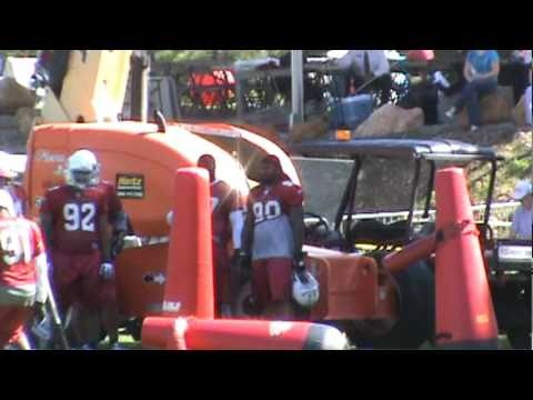 Arizona Cardinals Defensive Tackle Practice