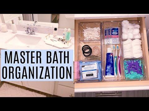 MASTER BATHROOM ORGANIZATION IDEAS  | Organize with me 2019 | Tara Henderson