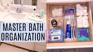MASTER BATHROOM ORGANIZATION IDEAS  | Organize with me  | Tara Henderson