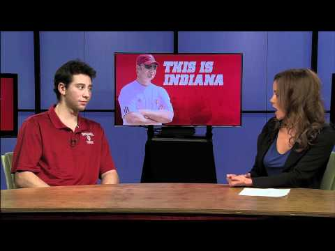 Indiana Men's Tennis Player Jeremy Langer In Studio