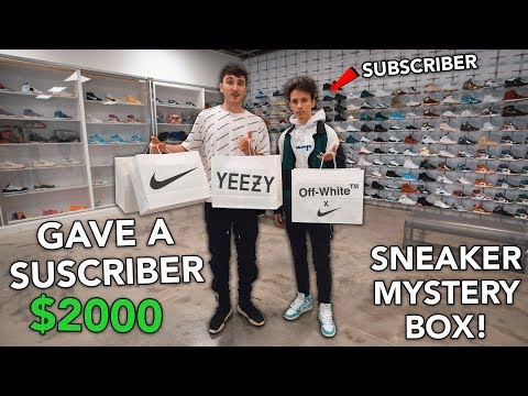 Giving A Subscriber $2000 To Make A  Sneaker Mystery Box For Me *SURPRISE""
