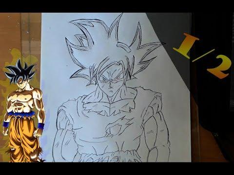 Tutoriel Comment Dessiner Goku Ultra Instinct Draw Goku Ultra Instinct Youtube
