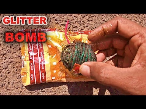GLITTER SUTLI BOMB | INDIAN CRACKERS EXPERIMENTS |