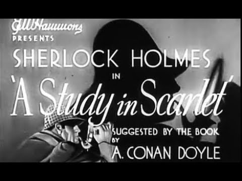 Sherlock Holmes Mystery Thriller Movie - A Study In Scarlet (1933)
