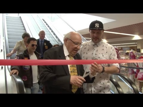 Whitehaven's First Escalator was officially opened at Donald Dixon's Department Store.