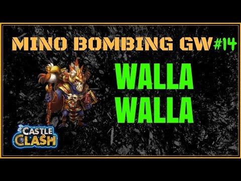MINO BOMBING GW - TESTING OUT WALLA - #14 - CASTLE CLASH
