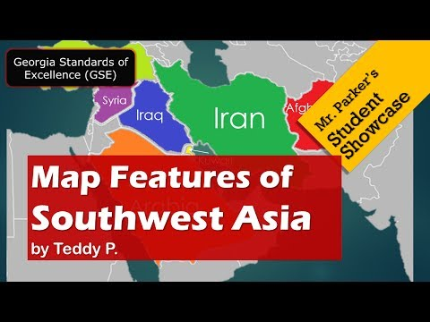 Map Features Of Southwest Asia GSE