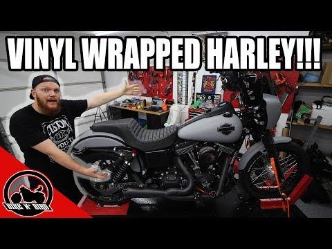 Vinyl Wrap Harley-Davidson Street Bob - Dyna Build Series Ep